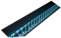 Основание для вертикального органайзера под установку кабельных гребенок CFS-6U-BL для шкафов высотой 27U и шириной 800 мм, ширина 150 мм, цвет черный Hyperline