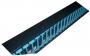 Основание для вертикального органайзера под установку кабельных гребенок CFS-6U-BL для шкафов высотой 47U и шириной 800 мм, ширина 150 мм, цвет черный Hyperline