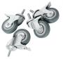 Ролики поворотные с тормозом для напольных шкафов TFI, болтовое крепление М10, диаметр колеса 75мм, уп-ка 4шт. TLK