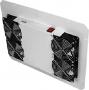 Вентиляторный блок TLK для напольных шкафов серий TFR, TFL, 4 вентилятора, нижние решетки пластиковые с фильтром, без шнура питания, серый TLK