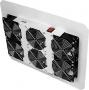 Вентиляторный блок TLK для напольных шкафов серий TFR, TFL, 6 вентиляторов, нижние решетки пластиковые с фильтром, без шнура питания, серый TLK