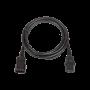Кабель питания TLK, вход - разъём C20 (IEC 60320) , выход - разъём C19 (IEC 60320), 3x1,5мм2, 1,8 м, 250В 16A, черный