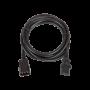 Кабель питания TLK, вход - разъём C20 (IEC 60320) , выход - разъём C19 (IEC 60320), 3x1,5мм2, 3м, 250В 16A, черный