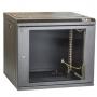 """Настенный разборный шкаф TLK 19"""", 9U, стеклянная дверь, Ш600хВ436хГ600мм, 2 пары монтажных направляющих, черный TLK"""