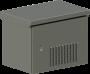 Шкаф настенный климатический TWK-098256-M-GY-KIT01, Lite, IP55, Ш821хВ****Г566 мм, цвет серый, муар, RAL 7035, комплектация: монтажные направляющие -2 пары, (Розеткa -16А -1 шт., Автомат - 1P 16А -1 шт., Автомата-1 6А -1 шт.,  Термостат для вентилятора -1