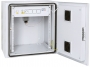 """Настенный двухсекционный шкаф 19"""", 9U, металлическая дверь, промышленный, степень защиты IP55, Ш612хВ504хГ600мм, серый TLK"""