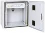 """Настенный двухсекционный  шкаф 19"""", 15U, металлическая дверь, промышленный, степень защиты IP55, Ш612хВ771хГ600мм, серый TLK"""