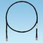 Патч-корд TX5e UTP, Cat.5e, с модульными разъёмами PAN-PLUG™ на обоих концах, 1м, черный PANDUIT