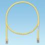 Патч-корд TX5e UTP, Cat.5e, с модульными разъёмами PAN-PLUG™ на обоих концах, 1м, желтый PANDUIT