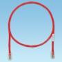 Патч-корд TX5e UTP, Cat.5e, с модульными разъёмами PAN-PLUG™ на обоих концах, 3 м, красный PANDUIT