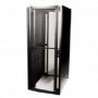 """Шкаф напольный 19-дюймовый (19""""), серия V800, 42U, 2013x800х1000 мм (ВхШхГ), передняя перфор. дверь, задние половинчатые перфорир. дверцы, перфорация 71%, замок с ключом, ножки (4шт.), цвет черный (RAL 9011) (разобранный) Siemon"""