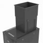 Регулируемый вытяжной короб, 523 x 653 x 516-923 мм, черный (для шкафов VersaPOD (VP2), V800 (V82), V600 (V62) глубиной 1200 мм) Siemon