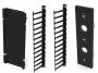 """Вертикальный канал коммутации в комплекте с органайзерами гребенками (4"""") и крышкой для шкафов Versapod, черный Siemon"""