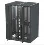 Сплошная двухсекционная дверь,42U, черная, для шкафов Versapod Siemon