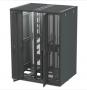 Сплошная двухсекционная дверь, 45U, черная, для шкафов Versapod Siemon