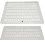 Заглушка с перфорацией для отверстия A (380x380 мм) в плите или крыше шкафов SZB, OTS1, SZB SE, DC, SZE2, 420x420 мм, металлическая, цвет серый (RAL 7035) (1718-39-1-1/7035) ZPAS