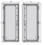 Левая створка стальной двери к шкафу SZE2 2000x1200, цвет серый (RAL 7035) ZPAS