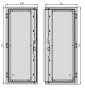 Правая створка стальной двери к шкафу SZE2 2000x1000, цвет серый (RAL 7035) ZPAS