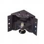 Уголоки для цоколя, высота 100 мм, с регулировкой уровня (комплект из 4 шт), цвет черный (RAL 9005) ZPAS