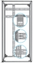 """Горизонтальный кабельный органайзер 19"""" для шкафов Z-SERVER глубиной 1000 мм ZPAS"""