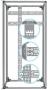"""Горизонтальный кабельный органайзер 19"""" для шкафов Z-SERVER глубиной 1200 мм ZPAS"""