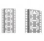 """Монтажный центральный профиль 19"""" для шкафов Z-SERVER, 47U ZPAS"""
