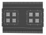 Щеточный кабельный ввод, для установки в верхнюю панель шкафа Z-SERVER глубиной 1200 мм ZPAS