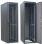 """Шкаф для системы ЦОД DataBox 42U, 1963x600х1000мм (ВхШхГ), со стальной дверью с повышенным уровнем перфорации (перфорация 80%), без крыши, без цоколя, 2 пары 19"""" Г-образных профилей, цвет черный (RAL 9005) ZPAS"""