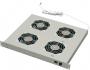 """Модуль вентиляторный 19"""", с уровнем шума 40 Дб, глубина 380 mm, 4 вентилятора, номинальная мощность 88 Вт, с разъемом под термостат, цвет серый (RAL 7035) (PW-3,4) ZPAS"""