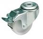 Ролик для шкафов и стоек, макс. нагрузка системы 400 кг, d=80мм, крепление винтом M12, с тормозом (2шт. в комплекте) ZPAS