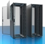 """Шкаф серверный 19"""", 42U, 2000х600х1200мм (ВхШхГ), двери металлические двустворчатые с перфорацией 80%, боковые панели в комплект не входят, без крыши, 2 пары 19"""" монтажных профилей, ножки, черный (RAL9005) (собранный) ZPAS"""