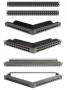 """Патч-панель 19"""", 24 порта, неэкранированная, 1U, черная, без модулей (в комплекте маркировочные этикетки, кабельные стяжки, крепеж) Siemon"""