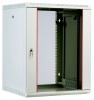Шкаф телекоммуникационный настенный разборный 12U, 600х650мм, съемные стенки, стеклянная дверь серый ЦМО