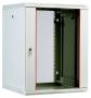 Шкаф телекоммуникационный настенный разборный 9U, 600х520мм, съемные стенки, стеклянная дверь серый ЦМО