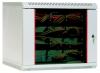 Шкаф телекоммуникационный настенный  9U, 600x480мм, В=500мм со стеклянной дверью серый ЦМО